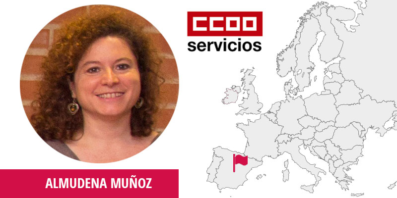Almudena Muñoz Velamazán, Federación de Servicios de Comisiones Obreras (CCOO Servicios), Technician in Training and Projects Department